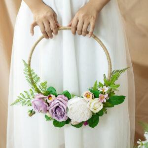 Bridesmaid Flower Hoop