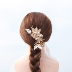 Bridal hair combs are a popular hair accessory for brides because they can be used in a variety of ways.